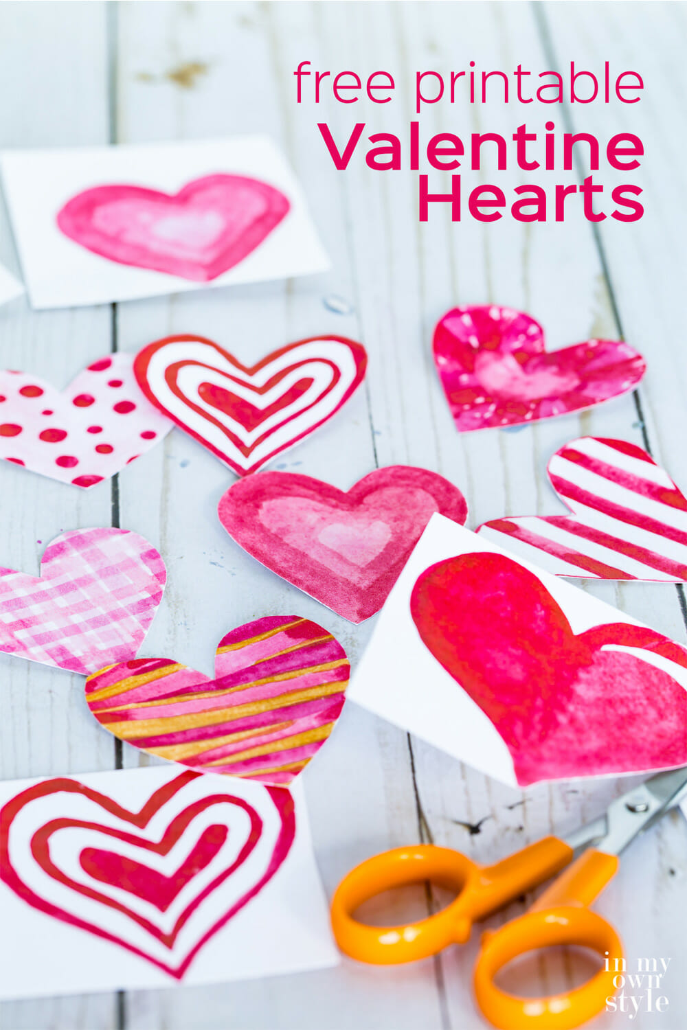 Printable Valentine Hearts & Envelopes