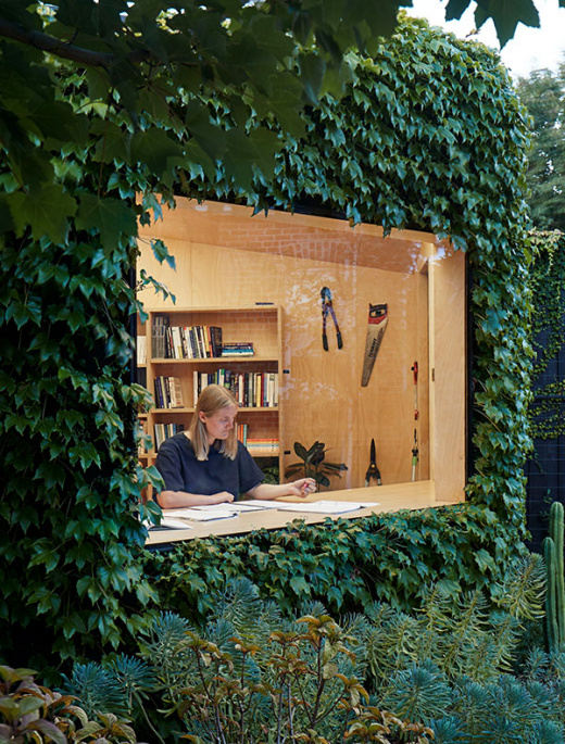 A Secluded Writer's Hut Masquerading As Part Of The Garden